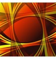 Orange yellow wave swirl background vector