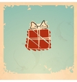Christmas vintage gift box vector