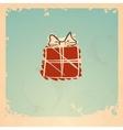 Christmas vintage gift box vector