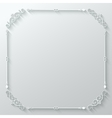 Frame ornate vintage paper cut background vector