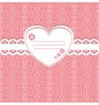 Cute lace frame on lace background vector