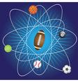 Balls for sport games vector