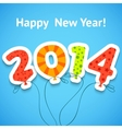 Happy new year colorful greeting card with vector