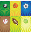 Balls for sport games vector