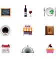 Restaurant icon set vector