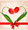 Holiday background with two flowers vector