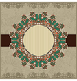 Circle vintage ornamental template vector