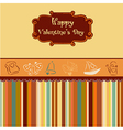 Vintage valentines day card vector