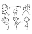 Six different kinds of dance moves vector