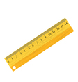 Wooden ruler vector