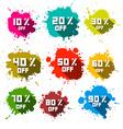 Discount splashes - labels set vector