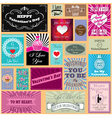 Set of happy valentines day cards vector
