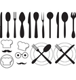 Kitchen tool collection vector