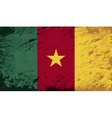 Cameroon flag grunge background vector