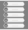 White stylish design template vector