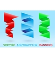 Abstract origami banner vector