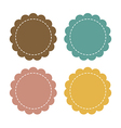 Label fabric promotions or qualities vector