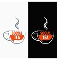 Tea cup social media concept background vector