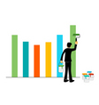 Businessman painting graph vector