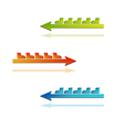 Color arrows with boots vector