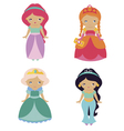 Four fantastic princesses vector