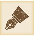 Grungy ink pen nib icon vector
