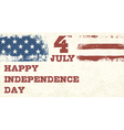 Retro style independence day design vector