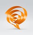 Swirl balloon vector
