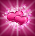Valentines shimmering background with beautiful vector