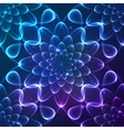 Blue shining cosmic flower seamless pattern tile vector