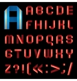 Abc font from coloured paper ribbon - set letters vector