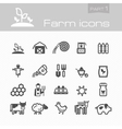 Farm icons part 1 vector