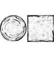 Grunge round and square frames texture vector