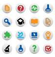 Buttons for science vector