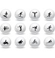 Web buttons games and sport icons vector