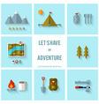 Camping flat design vector