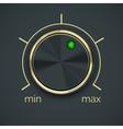 Circular metal controller with button vector