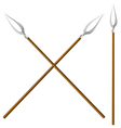 Crossed forks vector
