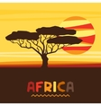 African ethnic background with of savanna vector