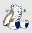 Cartoon style teddy bear toy vector