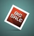 Big sale title on blue background vector