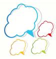 Empty cloud frame sticker vector