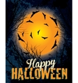 Halloween night background text vector
