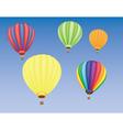 Hot air ballons vector