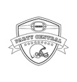 American football helmet shield line drawing vector