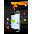 Smartphone application background vector