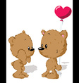 Valentine bear couple vector