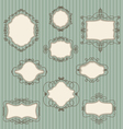 Set doodle retro frames vector