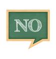 Blackboard with word no vector