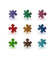 Color puzzle pieces vector
